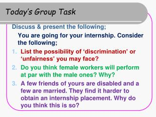 Today's Group Task