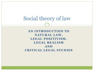 natural law and legal positivism essay Legal positivism vs natural law theory there are two natural law theories about two different things i a natural law theory of morality, or whats right legal.