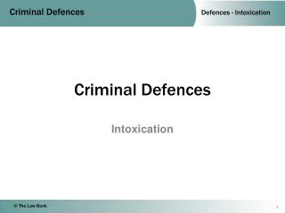 Criminal Defences