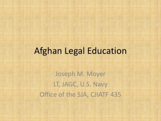 Afghan Legal Education
