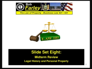 Class Eight: Personal Property III Liens and Security Interests