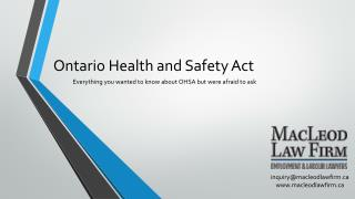 Ontario Health and Safety Act