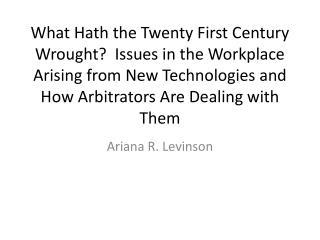 Ariana  R. Levinson