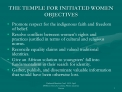 the temple for initiated women objectives