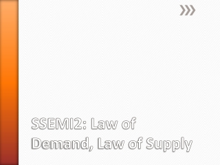 SSEMI2: Law of Demand, Law of Supply