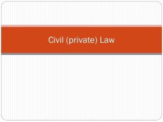 Civil (private) Law