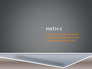 Math II