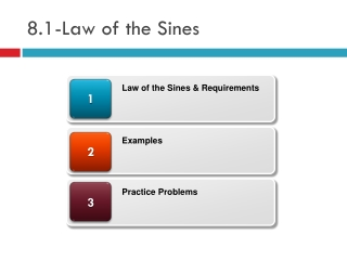 8.1-Law of the  Sines