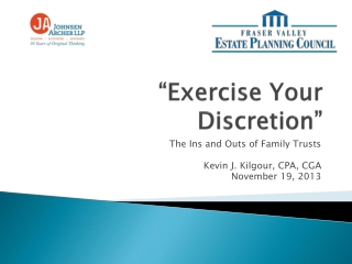 """Exercise Your Discretion"""