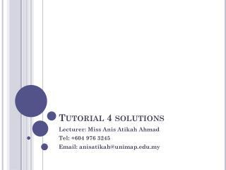 Tutorial 4 solutions
