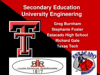 Secondary Education University Engineering