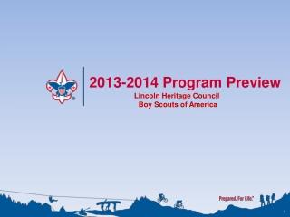 2013-2014 Program Preview