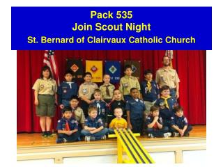 Pack 535 Join Scout Night