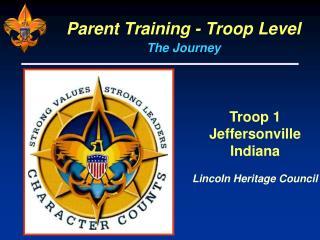 Parent Training - Troop Level
