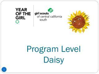 Program Level  Daisy