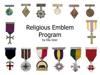 Religious Emblem Program by Ella Ozier