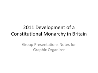 2011 Development of a Constitutional Monarchy in Britain