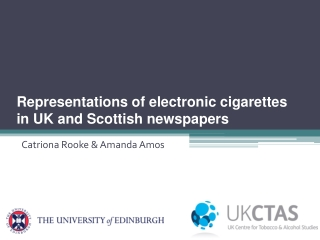 Representations of electronic cigarettes in UK and Scottish newspapers