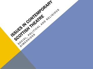 ISSUES IN CONTEMPORARY SCOTTISH THEATRE