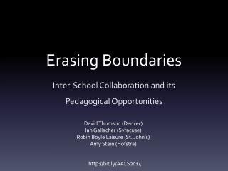 Erasing Boundaries