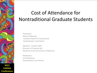 Cost of Attendance for  Nontraditional Graduate Students
