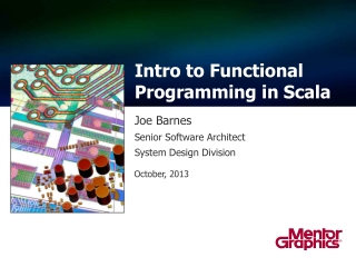 Intro to Functional Programming in  Scala