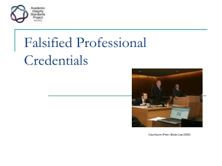 Falsified Professional Credentials
