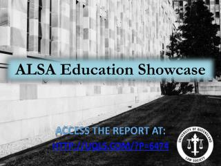 ALSA Education Showcase