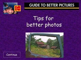 tips for  better photos