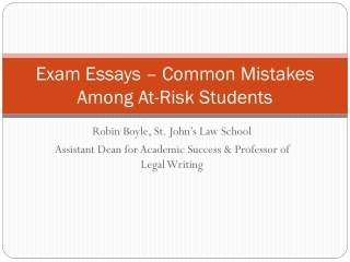 Exam Essays � Common Mistakes Among At-Risk Students