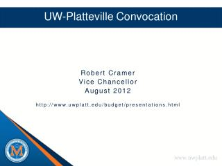 UW-Platteville Convocation