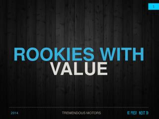 ROOKIES WITH  VALUE