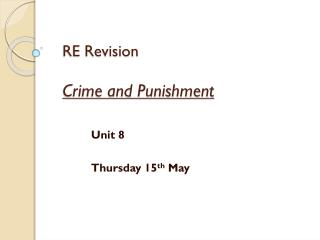 RE Revision  Crime and Punishment