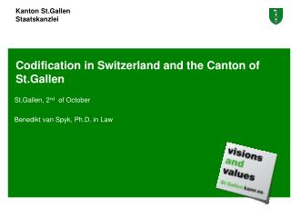 Codification in Switzerland and the Canton of St.Gallen