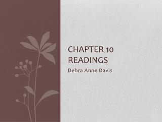 Chapter 10 readings