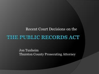 The Public Records act
