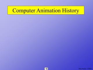 computer animation history