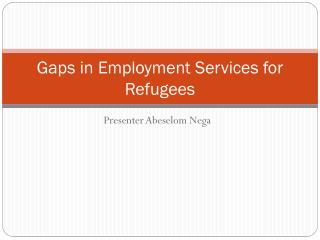 Gaps in Employment Services for Refugees