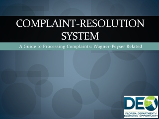 Complaint-Resolution system