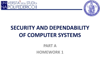 SECURITY AND DEPENDABILITY OF COMPUTER SYSTEMS