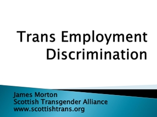 Trans Employment Discrimination