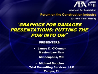 """ Graphics for Damages Presentations: Putting the Pow into Ow """