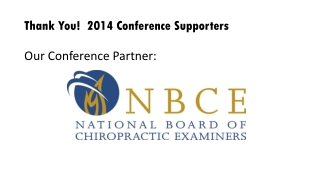 Thank  You!  2014 Conference Supporters