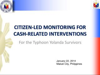 Citizen-led Monitoring for cash-related interventions