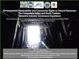 Environmental Sustainability and Community Rights to Natural Resources: The  Compostela  Valley and South  Cotabato Ext