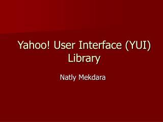 yahoo user interface yui library
