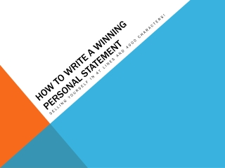 How to write a Winning Personal Statement