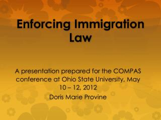 Enforcing Immigration Law