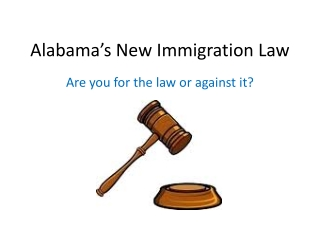 Alabama's New Immigration Law