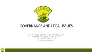 GOVERNANCE AND LEGAL ISSUES